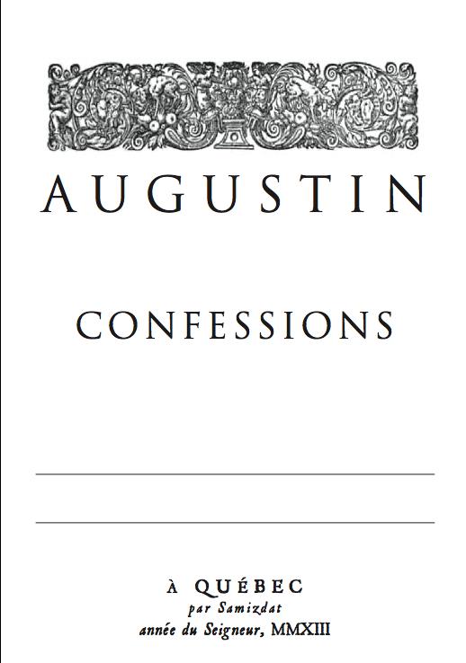 Confessions Saint-Augustin