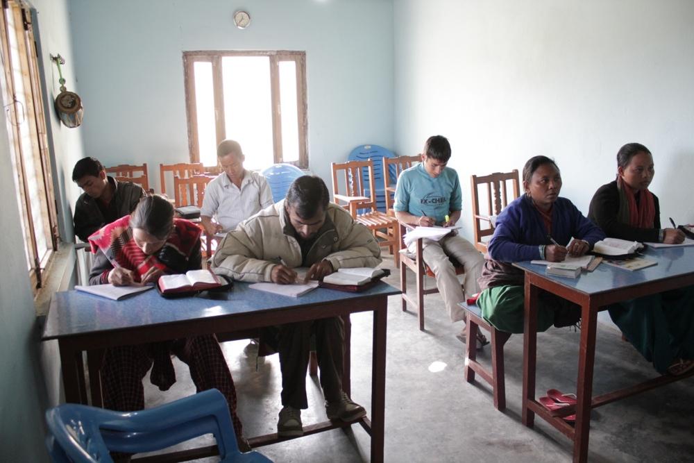 La classe de l'école biblique